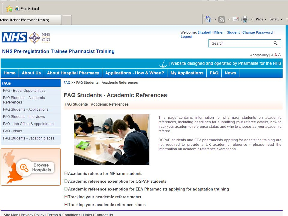 For more information about academic references and tracking your status see the FAQ Students – Academic References page on the website