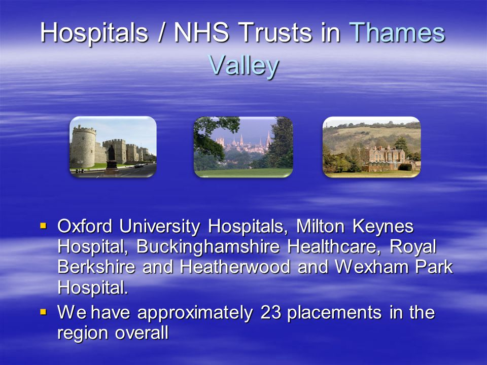 Hospitals / NHS Trusts in Thames Valley