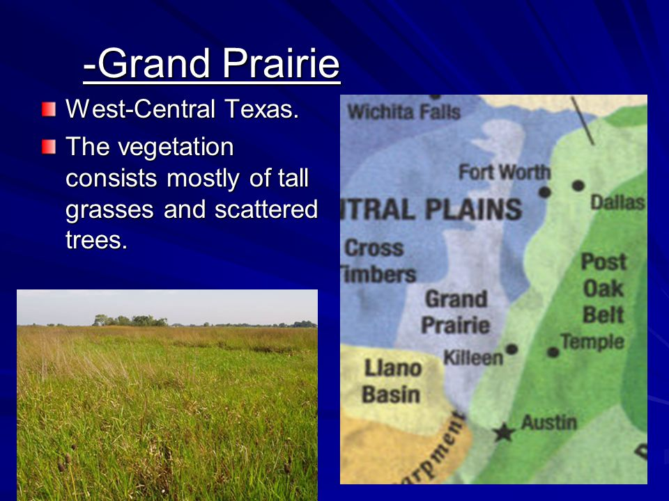 -Grand Prairie West-Central Texas.