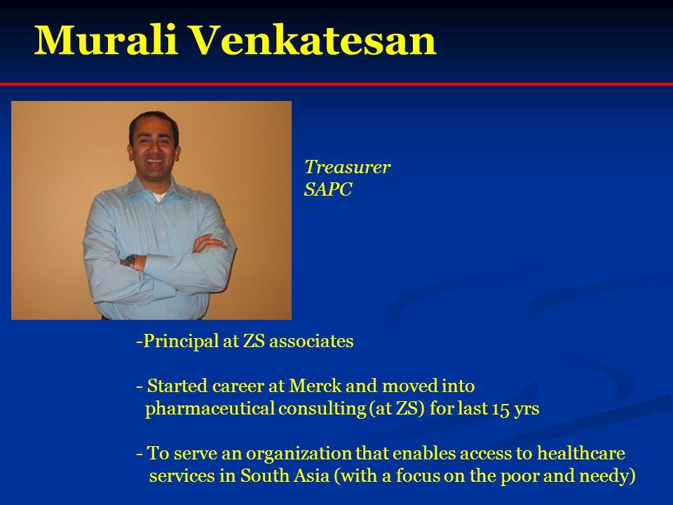 Murali Venkatesan Treasurer SAPC