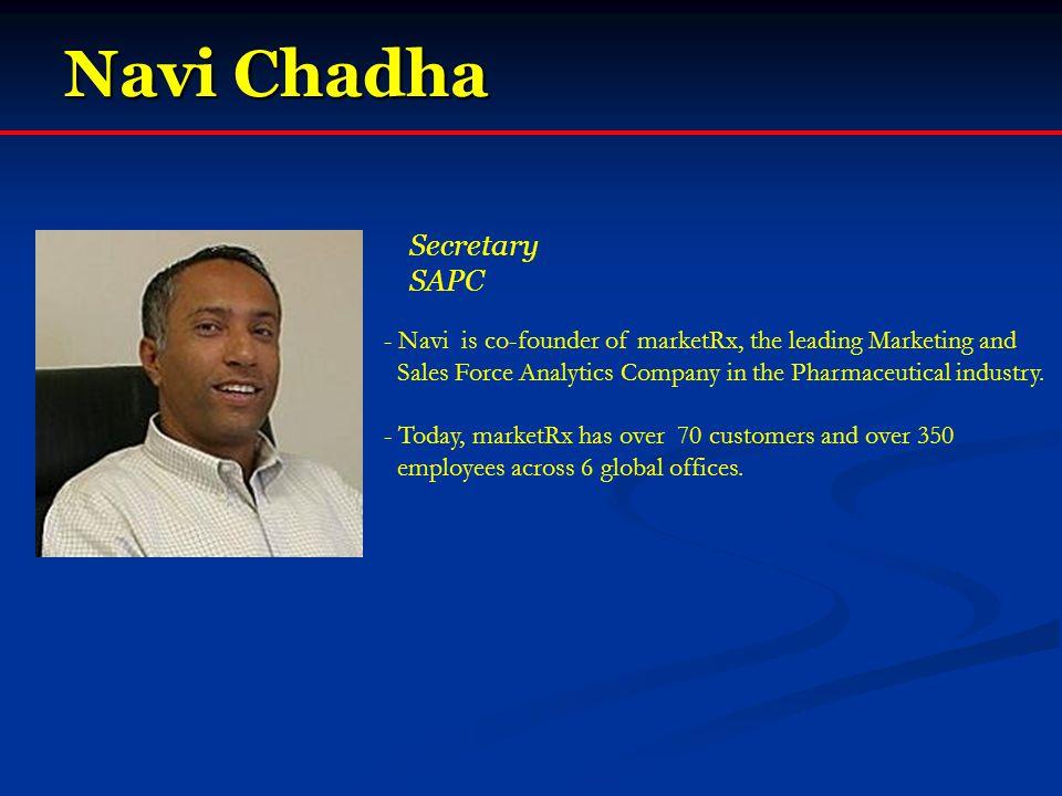 Navi Chadha Secretary SAPC