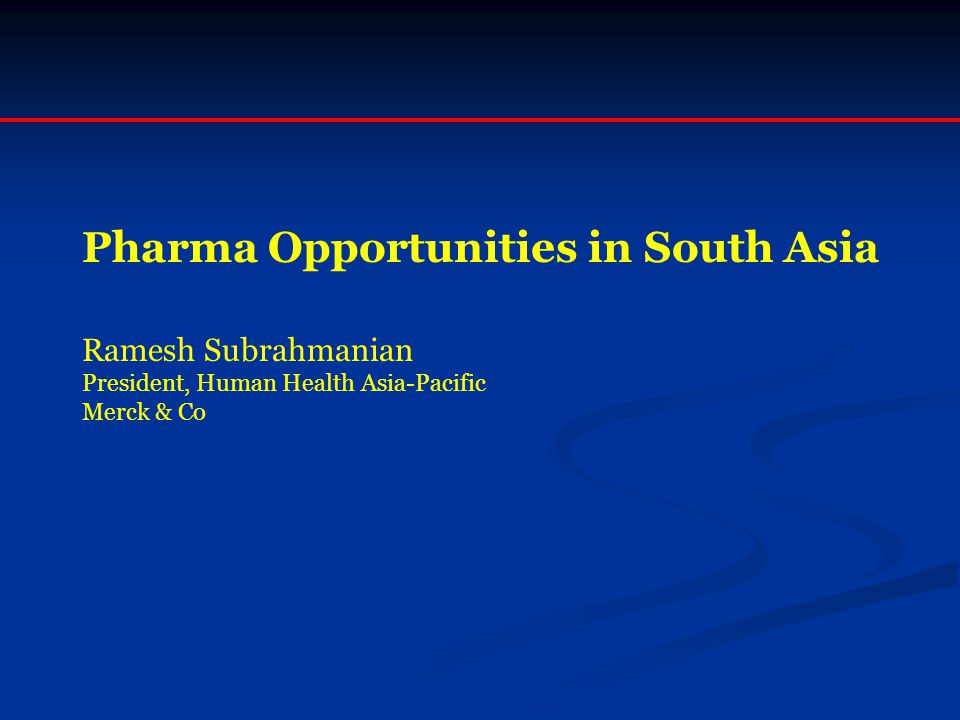 Pharma Opportunities in South Asia