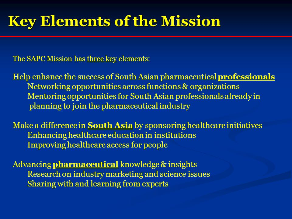 Key Elements of the Mission