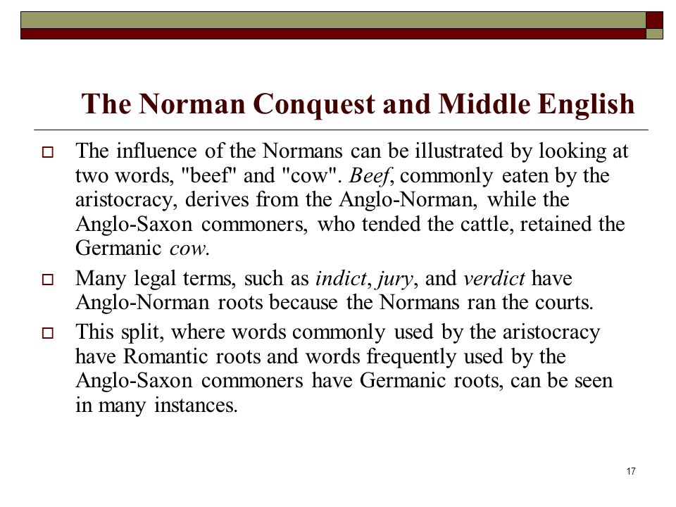 The Norman Conquest and Middle English