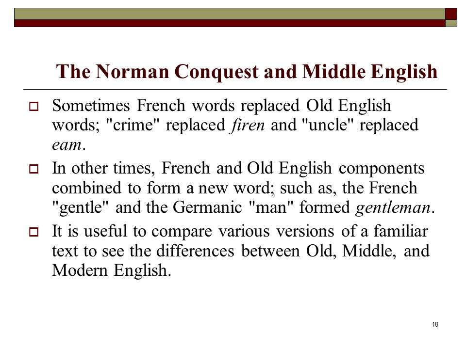 Norman conquest and old english