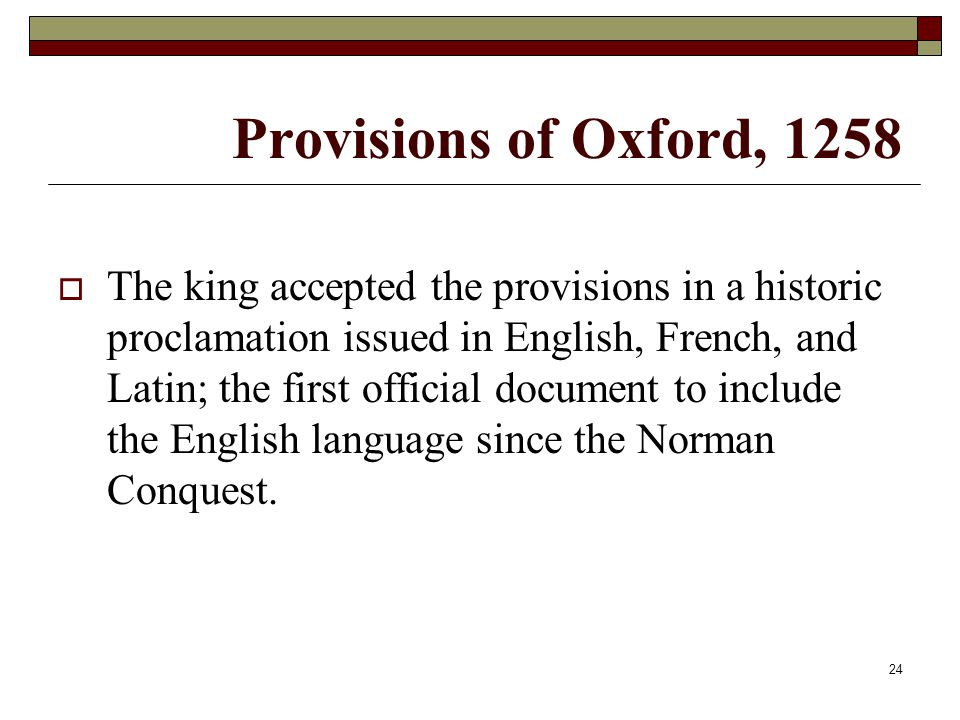Provisions of Oxford, 1258