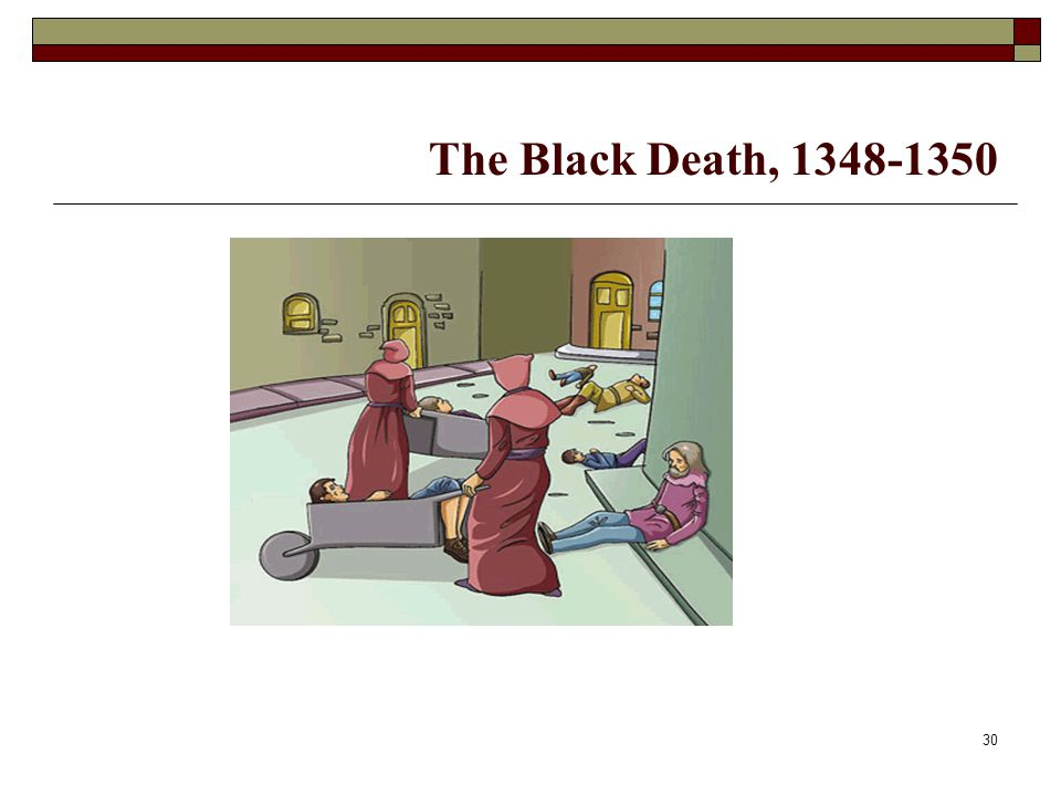 The Black Death, 1348-1350