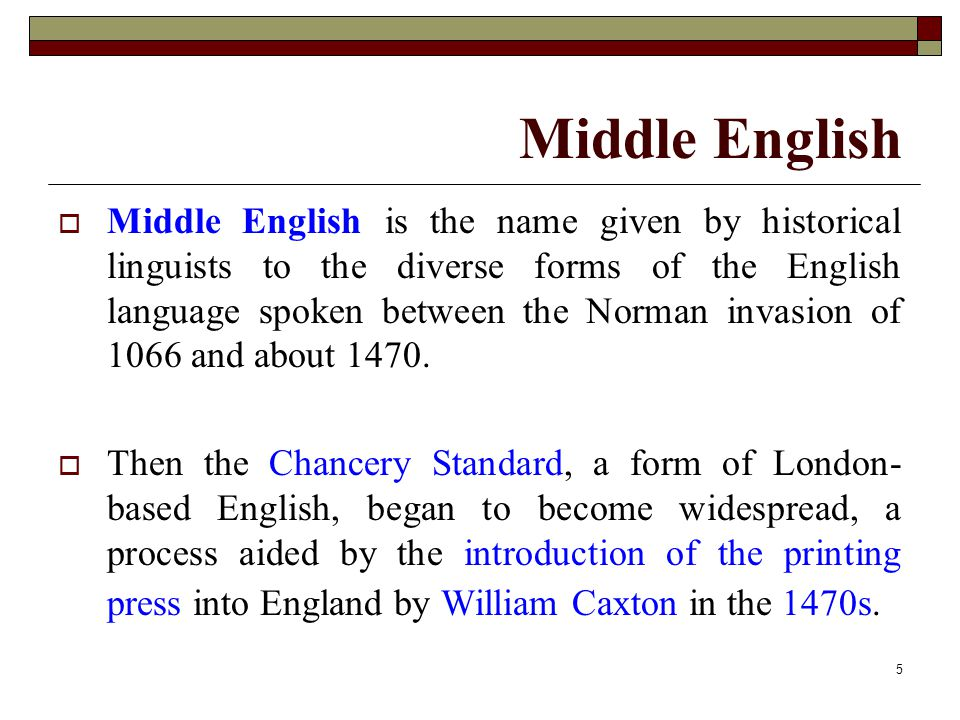 Middle English