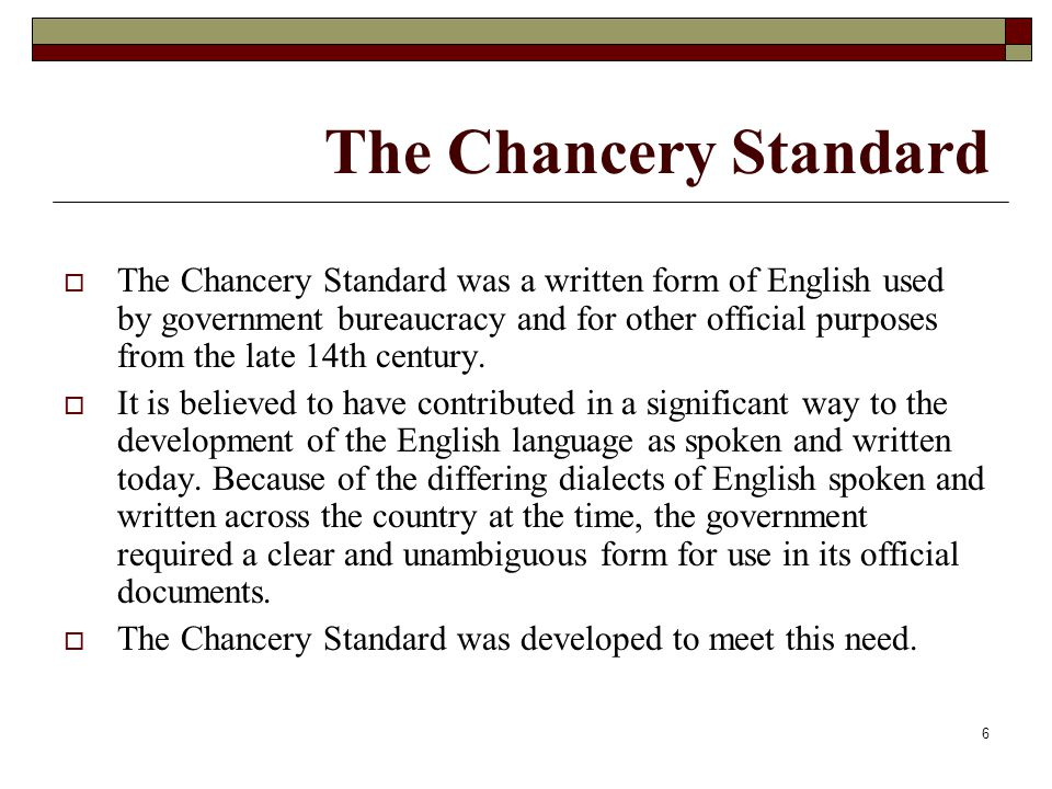 The Chancery Standard