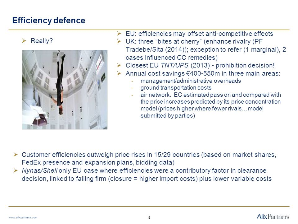 Efficiency defence EU: efficiencies may offset anti-competitive effects.