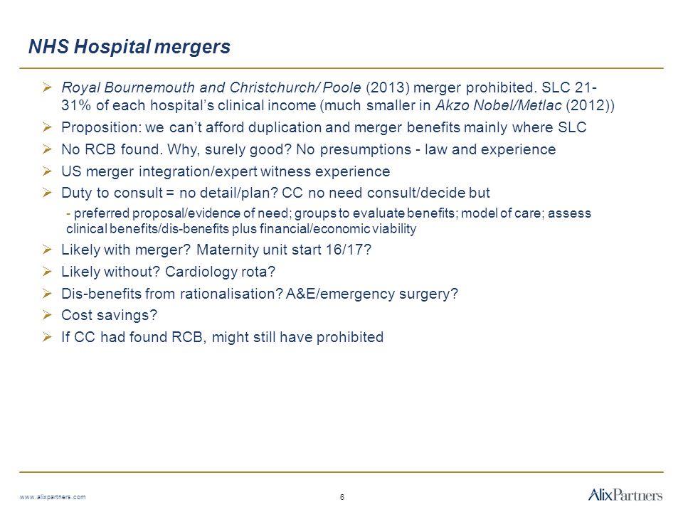 NHS Hospital mergers