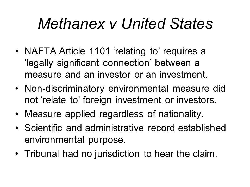 Methanex v United States