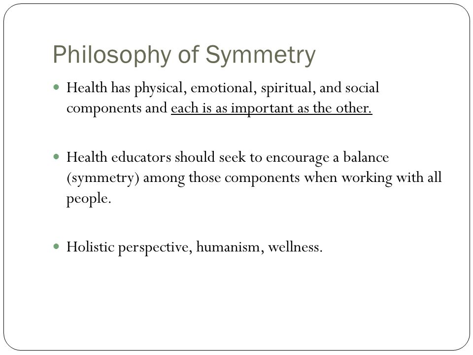 Philosophy of Symmetry