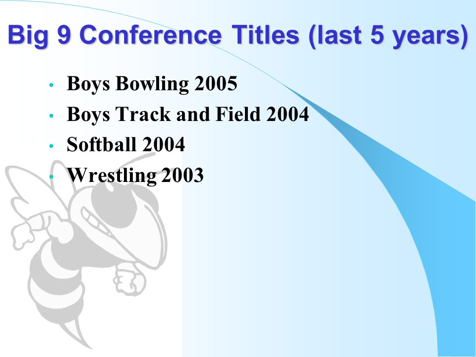 Big 9 Conference Titles (last 5 years)