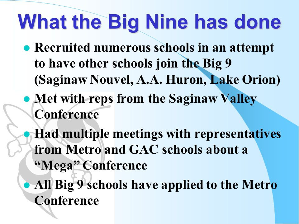 What the Big Nine has done