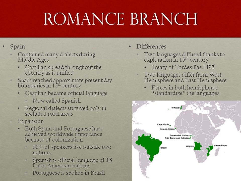 Romance Branch Spain Differences