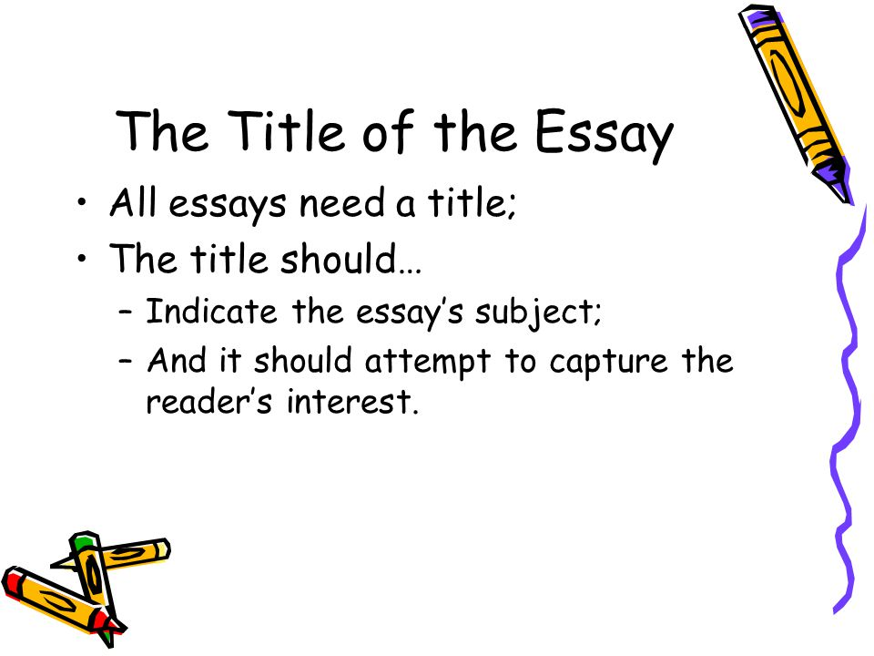 How should a manuscript title  be written in an essay