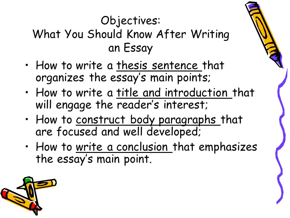 Objectives: What You Should Know After Writing an Essay