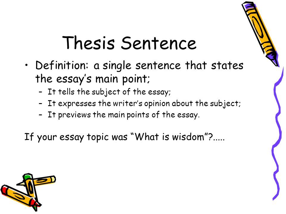 define thesis paper The definition essay, as the name suggests, defines terms and ideas, words and concepts our examples of definition essays will give you a solid idea of what your writing should contain.