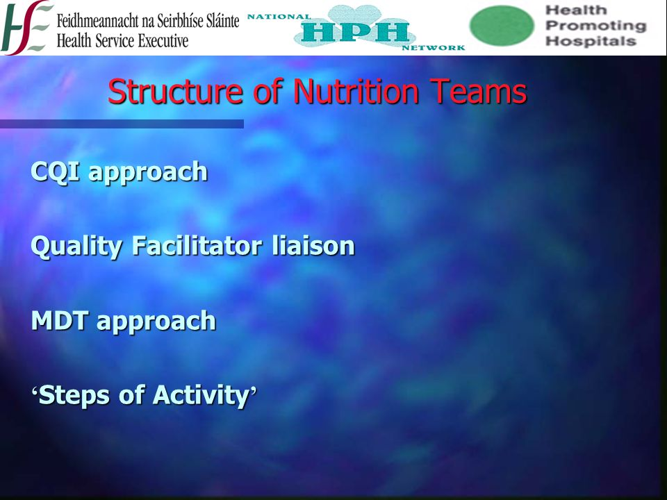 Structure of Nutrition Teams