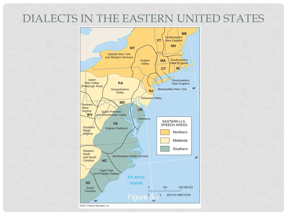 Dialects in the Eastern United States