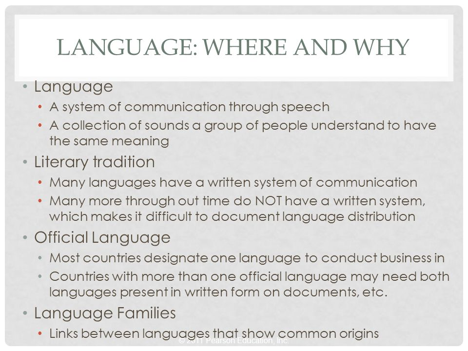Language: Where and Why