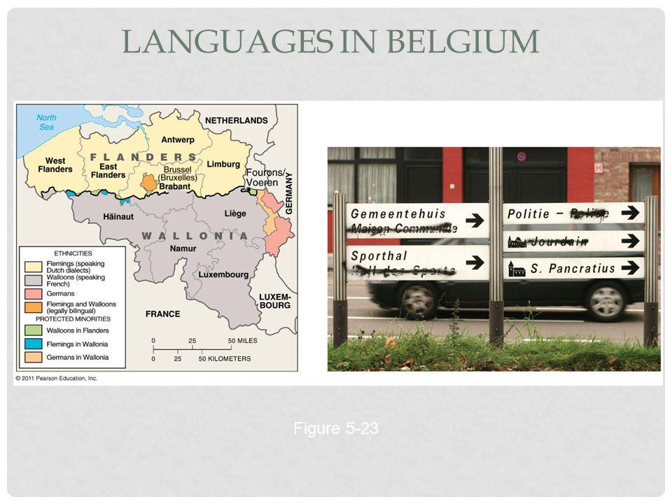 Languages in Belgium Figure 5-23