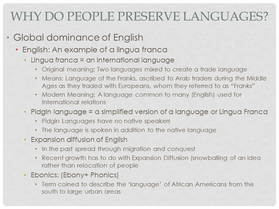 Why Do People Preserve Languages