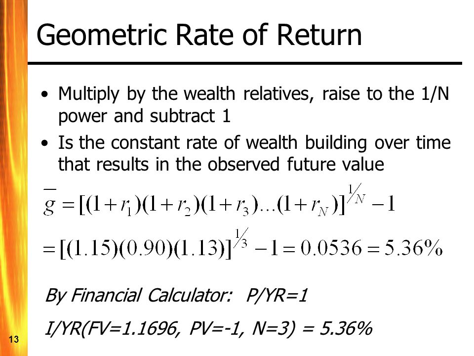 Geometric Rate of Return
