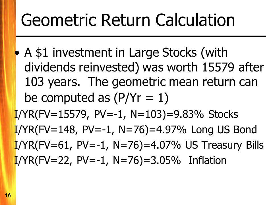 Geometric Return Calculation
