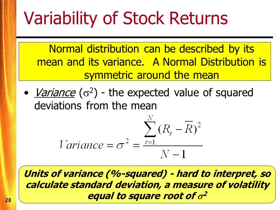Variability of Stock Returns