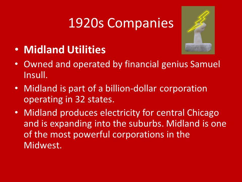 1920s Companies Midland Utilities