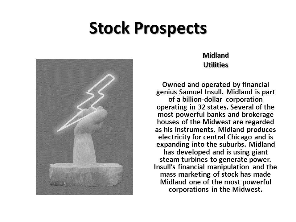 Stock Prospects Midland Utilities