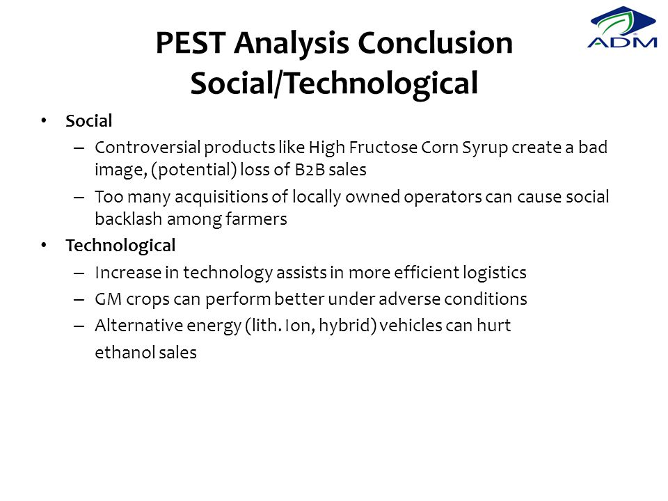 PEST Analysis Conclusion Social/Technological