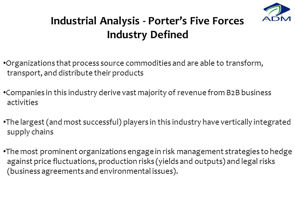 Industrial Analysis - Porter's Five Forces Industry Defined