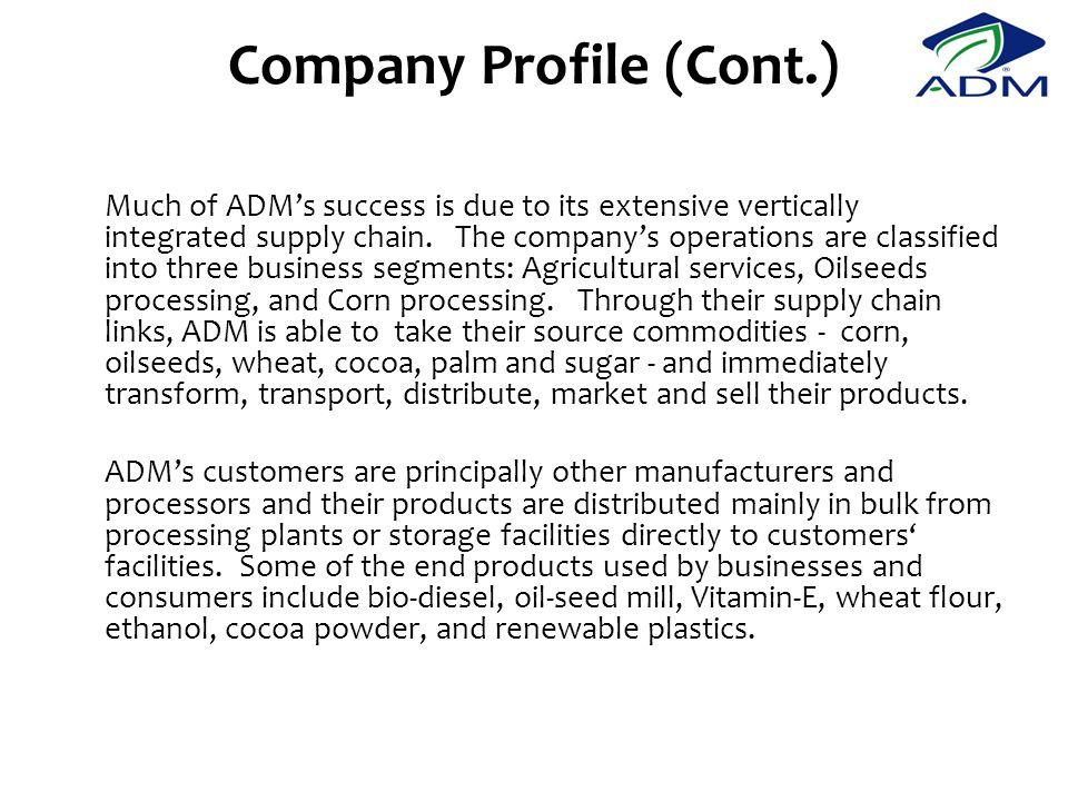 Company Profile (Cont.)