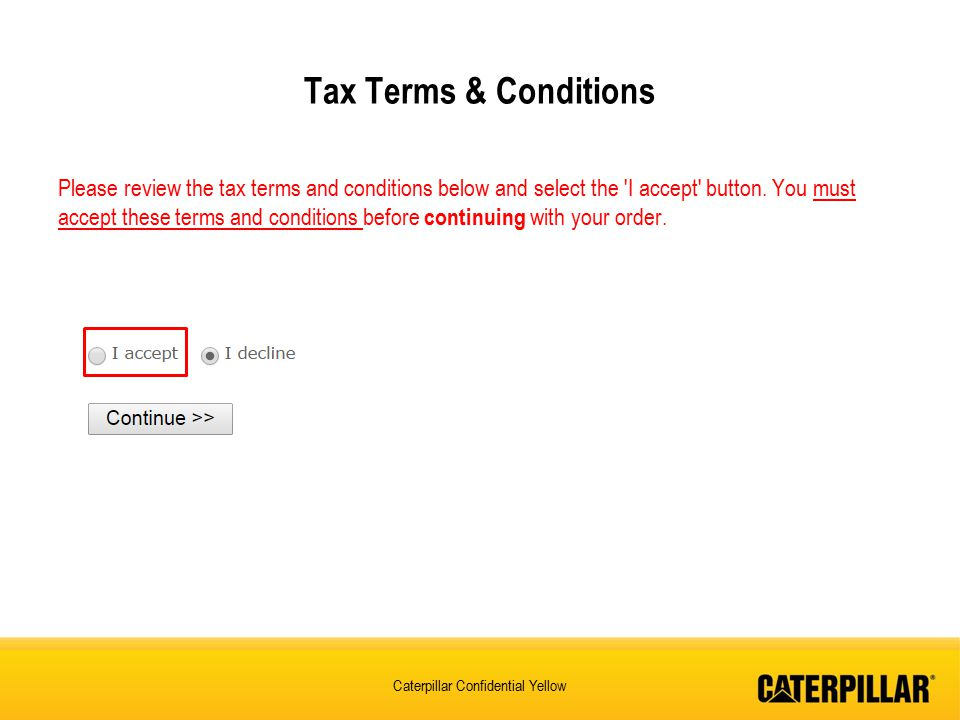 Tax Terms & Conditions