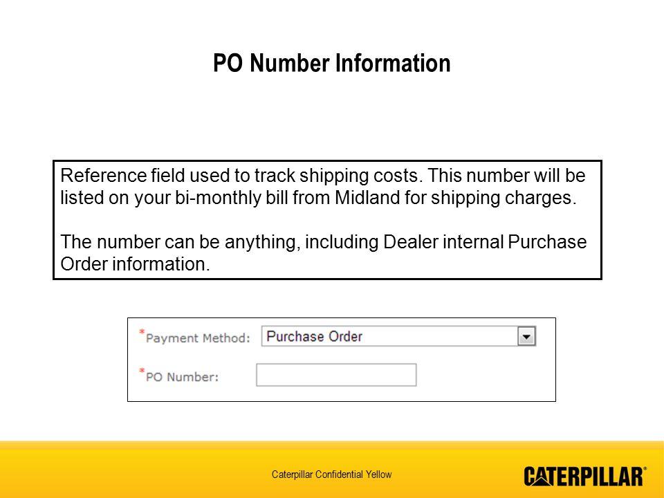 PO Number Information