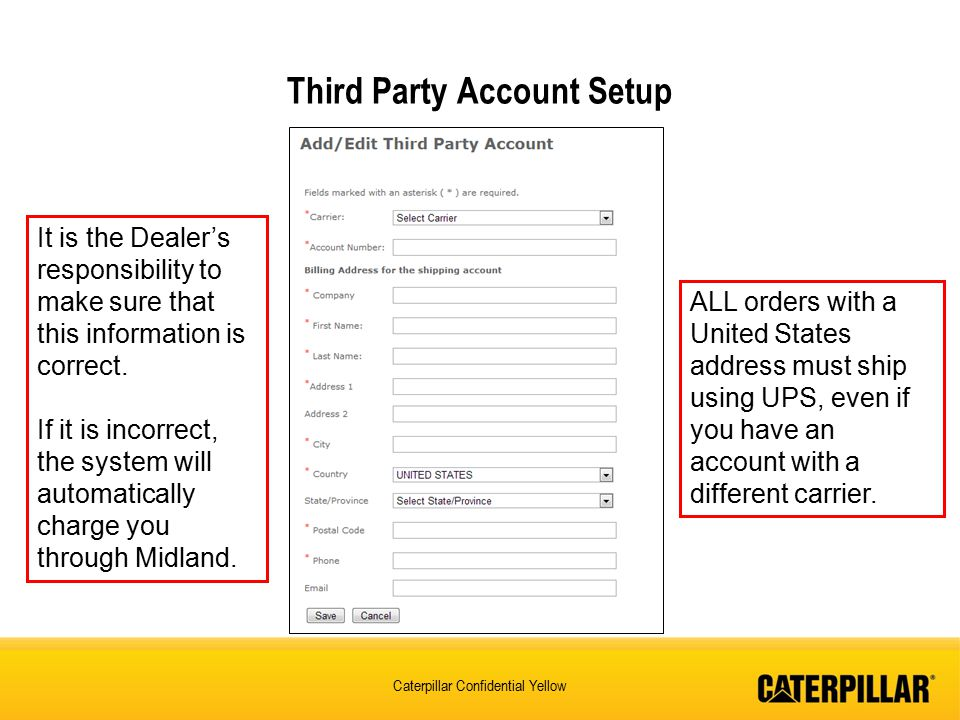 Third Party Account Setup