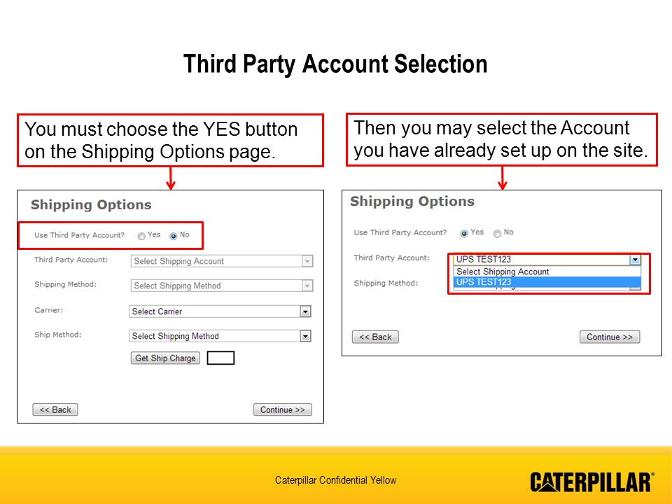 Third Party Account Selection