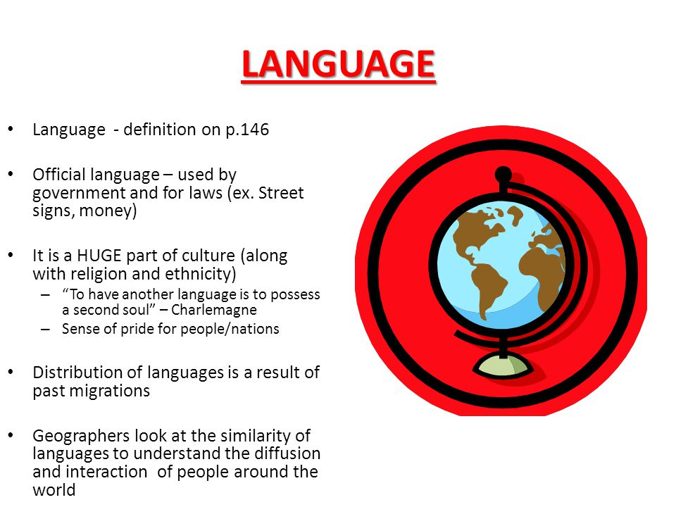 LANGUAGE Language - definition on p.146