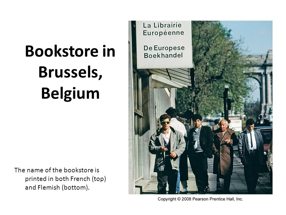 Bookstore in Brussels, Belgium