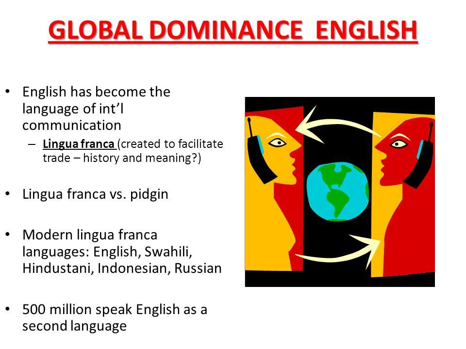 lingua franqua english as second langua