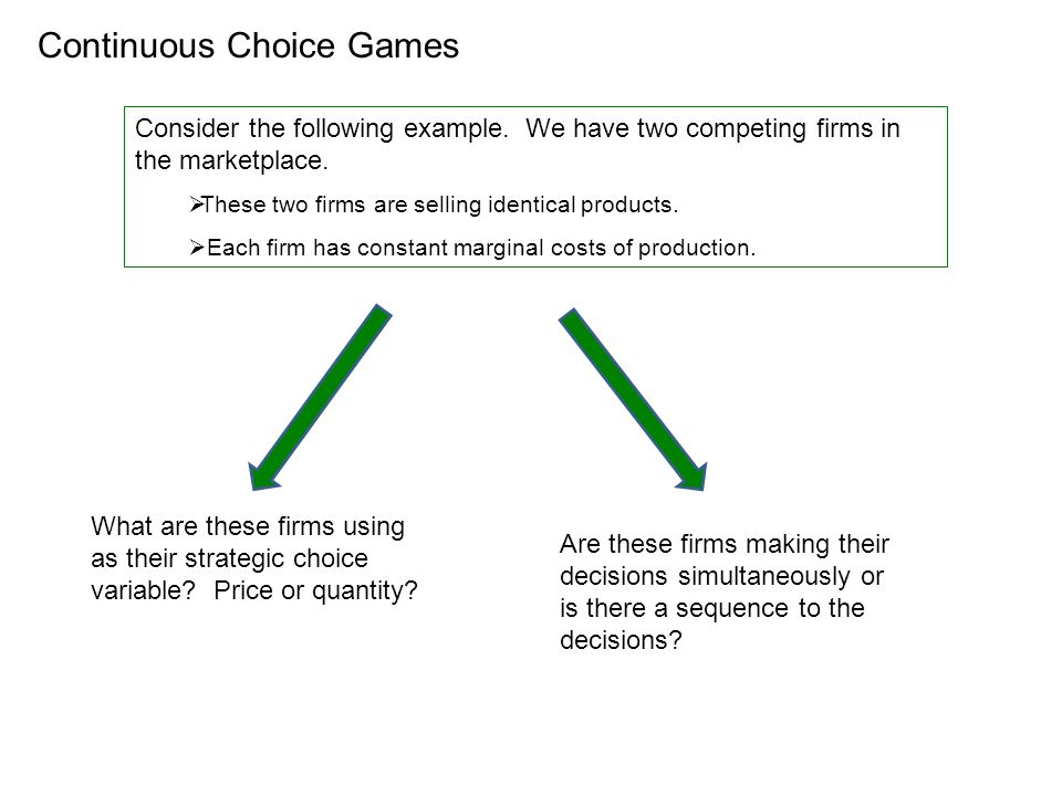 Continuous Choice Games