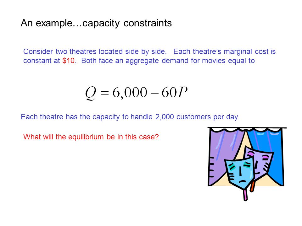 An example…capacity constraints