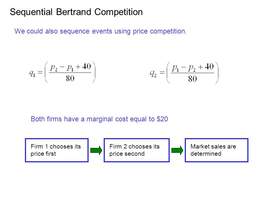 Sequential Bertrand Competition