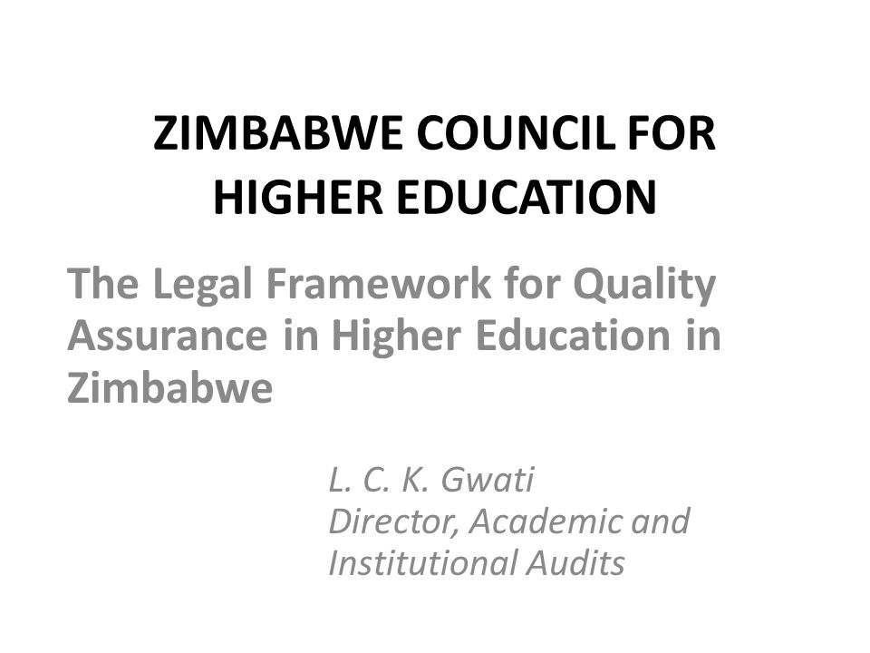 ZIMBABWE COUNCIL FOR HIGHER EDUCATION