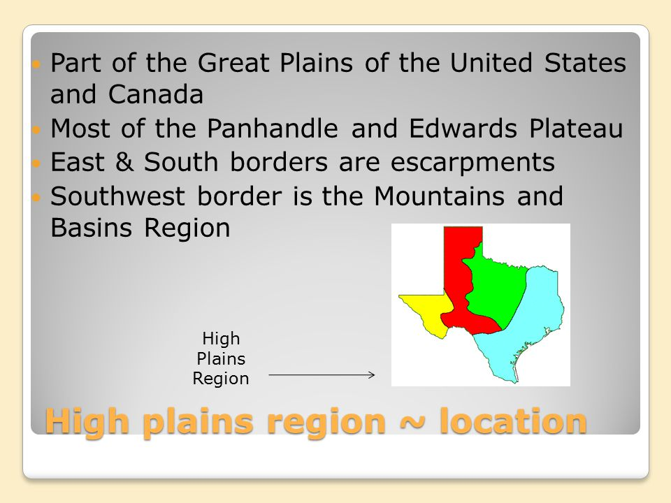 High plains region ~ location