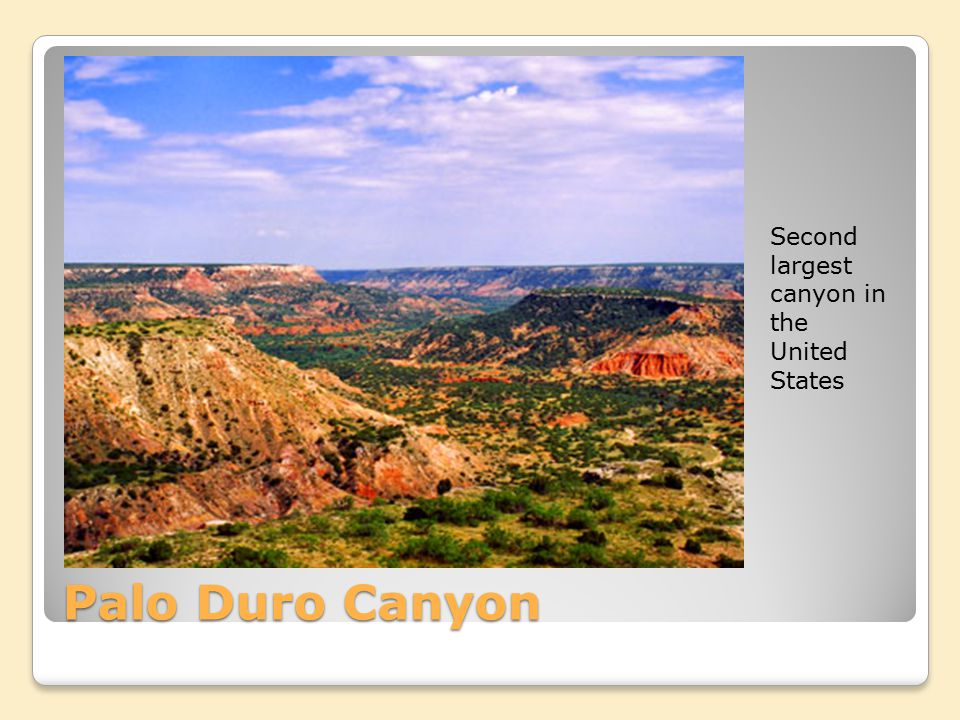 Second largest canyon in the United States