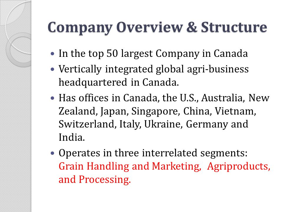 Company Overview & Structure